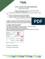 Manual ConsultaTitulos SicoobNetEmpresarial
