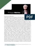Biografía de Philippe Meirieu
