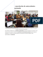 Trámite Para Cancelación de Antecedentes Penales y Policiacos en Guatemala