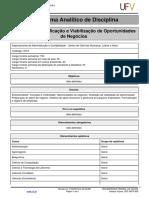 Programa Analitico-Identificao e Viabilizao de Oportunidades de Negcios