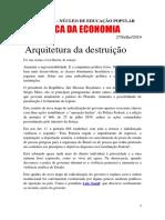 Crítica de economia política Brasil 2019