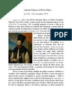 Domnitorul Grigore Al III