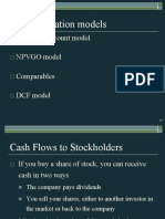 Stock Valuation by 4 models