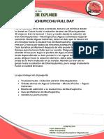 Full Day Machupicchu