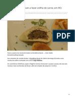 Cozinheiros Ensinam a Fazer Esfiha de Carne Em RO Confira Receita
