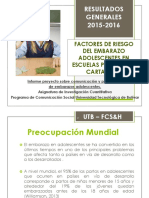 FACTORES DE RIESGO DEL EMBARAZO ADOLESCENTES EN ESCUELAS PÚBLICAS DE CARTAGENA