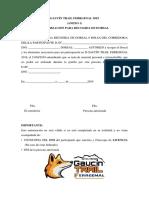 Autorización Para Recogida de Dorsal - GAUCÍN TRAIL FERRGENAL 2019