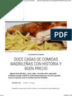 Doce Casas de Comidas Madrileñas Con Historia y Buen Precio _ El Comidista EL PAÍS