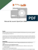 SportCam 1080P Manual Espanol