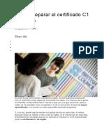 preparacion para certificacion C1 en Ingles