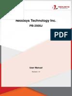PB-2500J User Manual