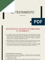 El Testamento Antecedentes