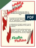 Las Fiestas Patrias Del Perú