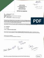 Samuel Pollard's City of Dover voter removal notice