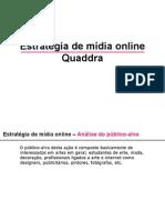 Estratégia de mídia online Quaddra