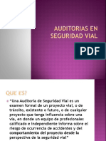 Auditorias en Seguridad Vial