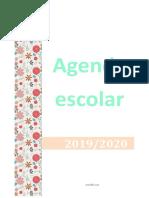 Agenda Escolar 2019 2020 - 3 Interrupções