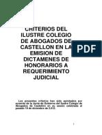 Criterios de Honorarios 2013
