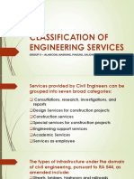 Classification of Engineering Services Report