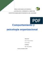 Psicología Organizacional RESUMEN