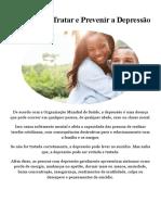 Como Posso Tratar e Prevenir a Depressão - PDF