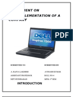 Assignment on Crm Implementation of Dell