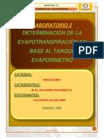 Deteriaciones de Evapotranspiracion