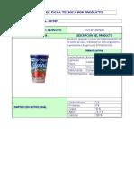 Ficha Tecnica Yogurt