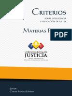 Criterios penales
