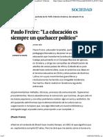 Paulo Freire_ _La Educación Es Siempre Un Quehacer Politico_ _ Edición Impresa _ EL PAÍS