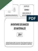 bancos de materiales autorizados por sct mexico