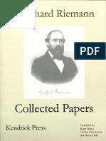 Riemann, Bernhard - Bernhard Riemann Collected Papers-Kendrick Press (2004)