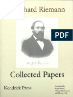 Riemann, Bernhard - Bernhard Riemann Collected Papers-Kendrick Press (2004)