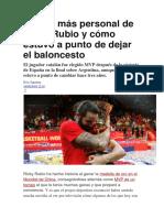 El Lado Más Personal de Ricky Rubio y Cómo Estuvo a Punto de Dejar El Baloncesto