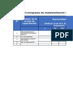 Calendario de Implementacion Apurímac