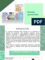 FORMULAS Parenterales