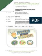 ANTI-DRUG CAMPAIGN REPOTY