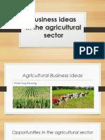 Agribusiness Ideas