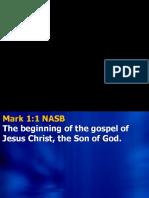 The Gospel o Mark 1 - An Introduction