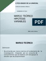 MARCO TEÓRICO, HIPÓTESIS Y VARIABLES