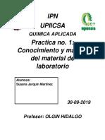 Ipn Quimica Practica i 30-08-2019
