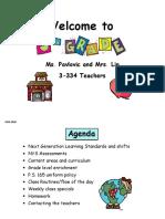 2019-2020 parent teacher night