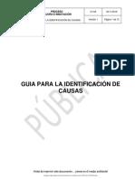 IDENTIFICACION DE CAUSAS