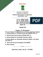 Tender Doc 2018-19 Agriculture