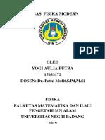 Yogi Aulia Putra 17033172 Fismod