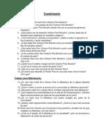 Cuestionario Pastor Polo