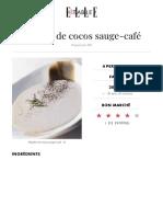 Mijotée de Cocos Sauge-café