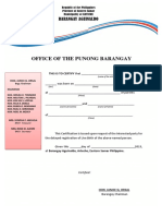 Barangay Late Registration Clearance