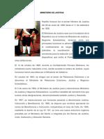 Informacion de Ministerio de Justicia