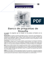 FILOSOFÍA (Banco) BANCO DE PREGUNTAS